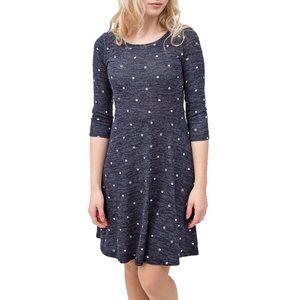 LE LIS x STITCH FIX Kenley Knit Polka Dot Dress